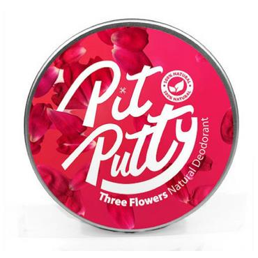 Pit Putty Three Flowers Natural Deodorant 65g