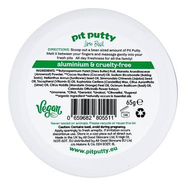 PItt Putty Lime Basil Natural Deodorant 65g