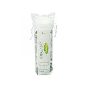 Organyc beauty cotton round make-up pads 70pcs