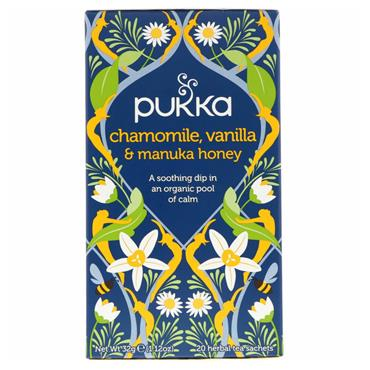 Pukka Chamomile, Vanilla & Manuka Honey Tea 20 teabags