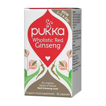 Pukka Wholistic Red Ginseng capsules - 30 capsules