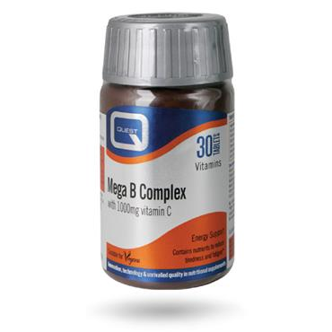 Quest Mega B Complex + Vitamin C 1000mg 30s