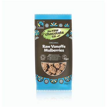 The Raw Chocolate Company Organic Raw Vanoffe Mulberries 28g