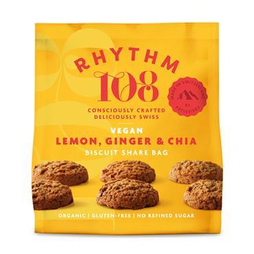 Rhythm 108 Lemon & Ginger Biscuits 160g
