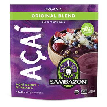 Sambazon Acai Original Organic Superfruit Pack 4x100g