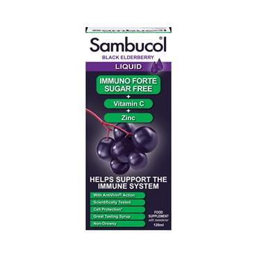 Sambucol Black Elderberry Immuno Forte Liquid - Sugar Free