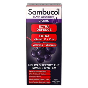 SAMBUCOL Elderberry Syrup EXTRA DEFENCE 120ml