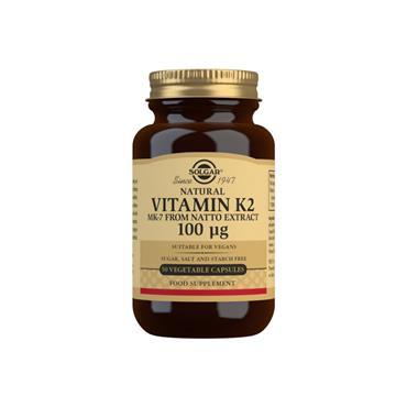 Solgar Vitamin K2 100ug 50 Capsules