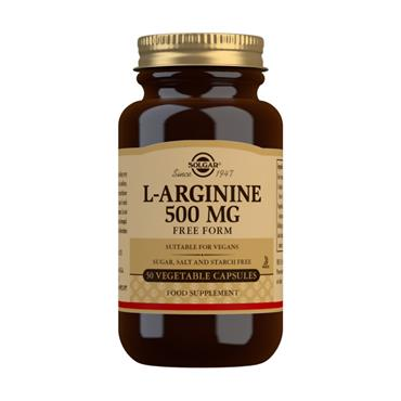 Solgar L-Arginine 500mg 50 Capsules