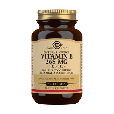 Solgar Vitamin E 400IU Softgels - 50 Softgels