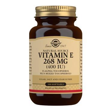 Solgar Vitamin E 400IU Softgels - 100 Softgels