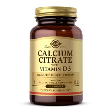 Solgar Calcium Citrate with Vitamin D3 Tablets 60s
