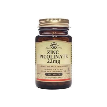 Solgar Zinc Picolinate 22mg Tablets 100s
