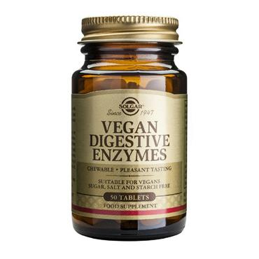 Solgar Vegan Digestive Enzymes 50 Chewable Tablets