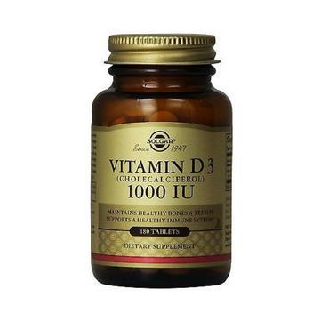 Solgar Vitamin D3 (cholecalciferol) 1000iu 180 tablets