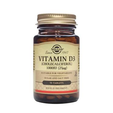 Solgar Vitamin D3 1000IU 90 Tablets