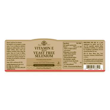 Solgar Vitamin E & Selenium Veg Caps 50s