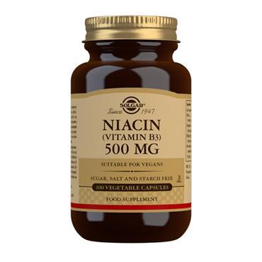Solgar Niacin 500mg 100 Capsules