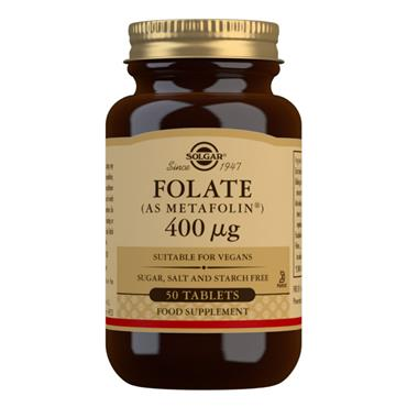 Solgar Folate 400ug 50 Tablets (Folic Acid)