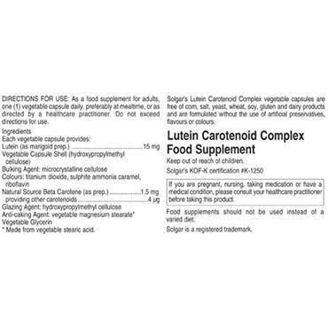Solgar Lutein Carotenoid Complex 30 capsules