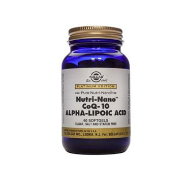 Solgar Nutri Nano Co Q-10 Alpha Lipoic Acid  60 Softgels