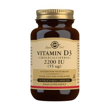 Solgar Vitamin D3 2200IU - 50 Capsules