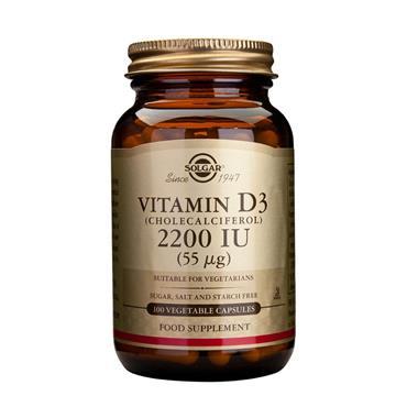 Solgar Vitamin D3 2200IU - 100 Capsules