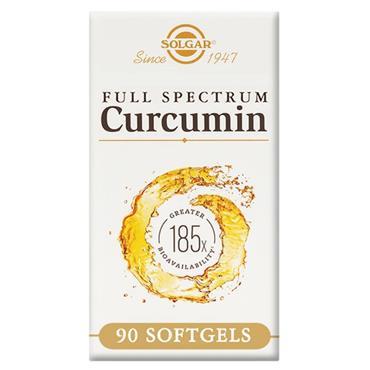 Solgar Full Spectrum Curcumin 185x (Turmeric) SoftGels 90s