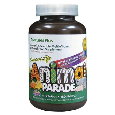 Nature's Plus Animal Parade Children's Chewable Multivitamin Assorted Flavours 180s