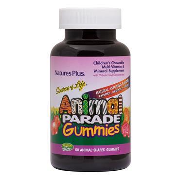 Nature's Plus Animal Parade Gummies Multivitanmin Assorted Flavors 50s