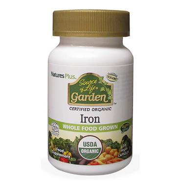 Source of Life Garden- Iron 18mg Organic 30 Capsules