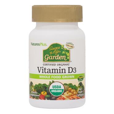 Nature's Plus Source of Life Garden Vitamin D3 2500IU 60 veggie caps