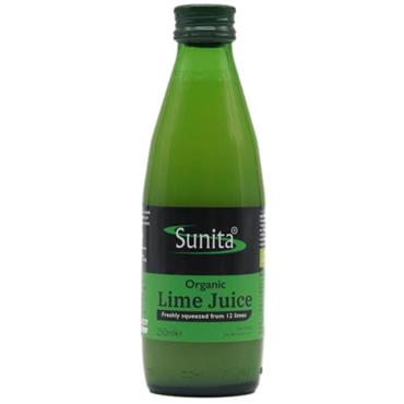 Sunita Organic Lime Juice 250ml