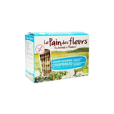 Le Pain Des Fleurs Organic Buckwheat Crisp Bread - No Salt 125g