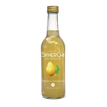 SynerChi Raw Organic Live Kombucha - Ginger & Lemon 330ml