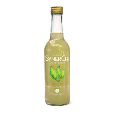 SynerChi Raw Organic Live Kombucha - Original Sencha Tea 330ml