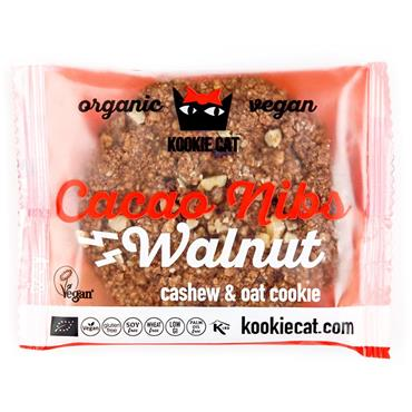 Kookie Cat Walnut & Cacao Nib Cookie 50g