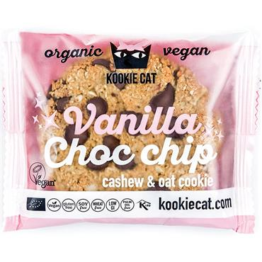 Kookie Cat Vanilla Choc Chip Cashew Cookie 50g
