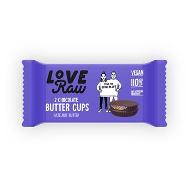 Love Raw Butter Cups 34g Hazelnut