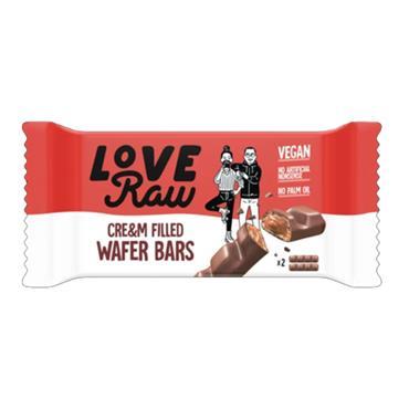 Love Raw Vegan Dark Chocolate Wafer Cre&m Bar 43g