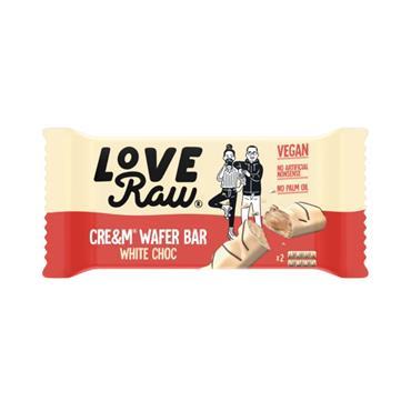 Love Raw Vegan White Chocolate Wafer Cre&m Bar 43g