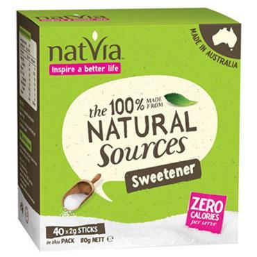Natvia 100% Natural Stevia Sweetener 40 Sachets