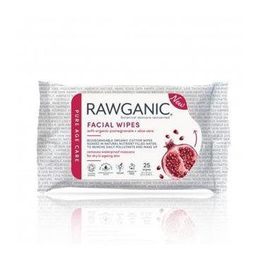 Rawganic Anti Aging Pomegranate Facial Wipes