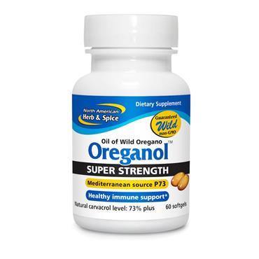 NAHS Oreganol Super Strength Wild Oil of Oregano Gel Caps 60s