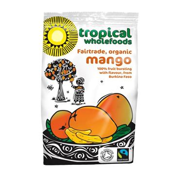 Tropical Wholefoods Fairtrade Organic Dried Mango 100g