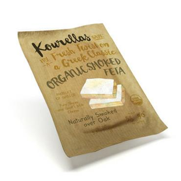 Kourellas Organic Smoked Greek Feta Cheese 150g