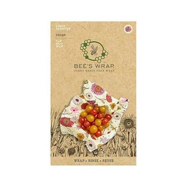 Bees Wrap Vegan Variety Reusable Food Wrap 3pk