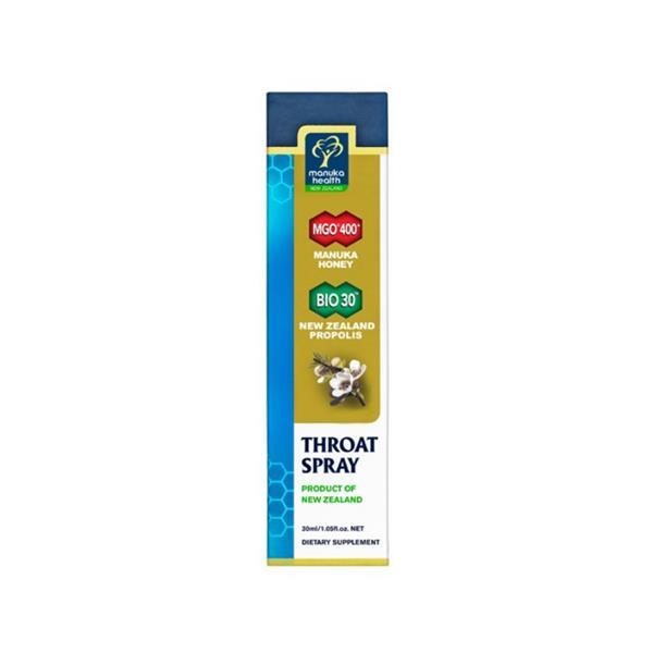 Manuka Health Mgo400 Throat Spray Propolis Propolis Bio30 30Ml