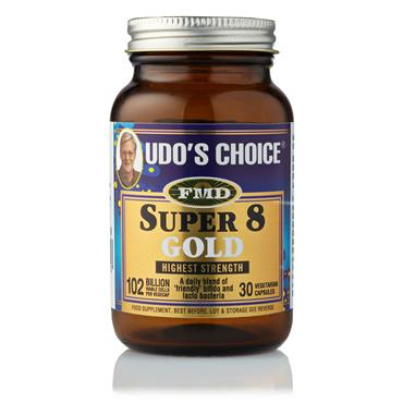 Udo's Choice Super 8 Gold Microbiotic - 30 Capsules