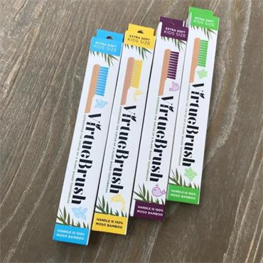 Virtue Charcoal Toothbrush Bamboo Kids
